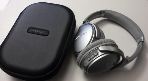 Bose QuietComfort 35: Das silberne Testmodell
